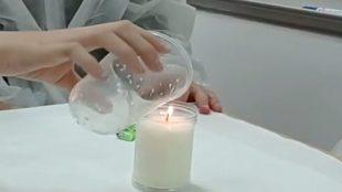 Apagando una vela
